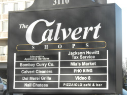 X Calvert Shop sign