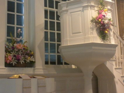 The Wine Glass Pulpit at Christ Church