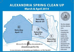 2014 Spring Clean Up Map